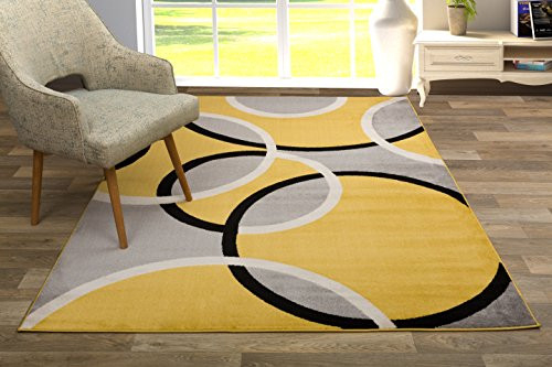 Rugshop Contemporary Abstract Circles Area Rug 7 10quot x