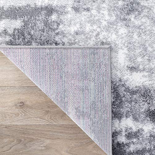 Rugshop Contemporary Abstract Distressed Area Rug 5 x 7