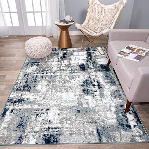 Rugshop Contemporary Abstract Distressed Area Rug 710quot x