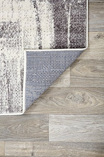 Rugshop Contemporary Modern Abstract Area Rug 5 x 7 Gold
