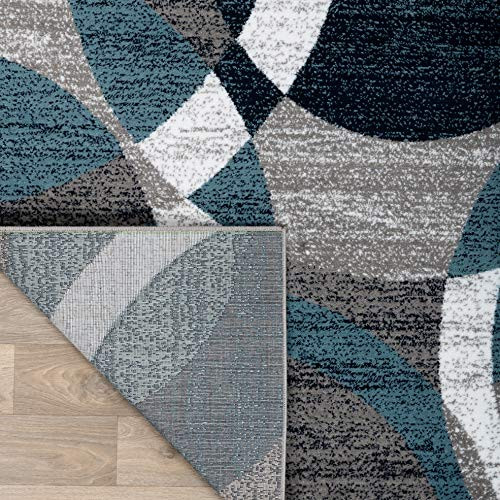 Rugshop Contemporary Modern Circles Abstract Area Rug 7 10quot