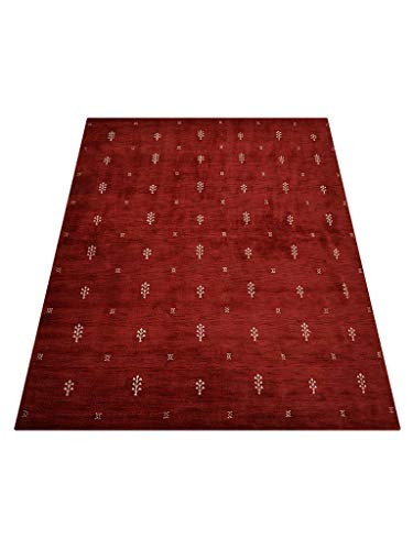 Rugsotic Carpets Hand Knotted Gabbeh Wool 8x11 Area Rug
