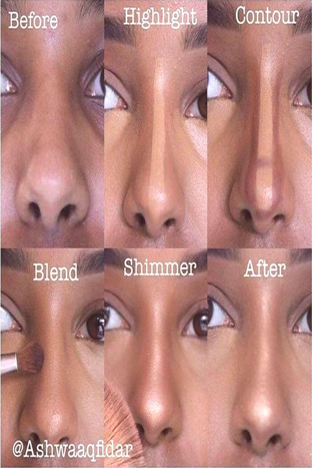 Step by Step Instructions for Nose Contouring
