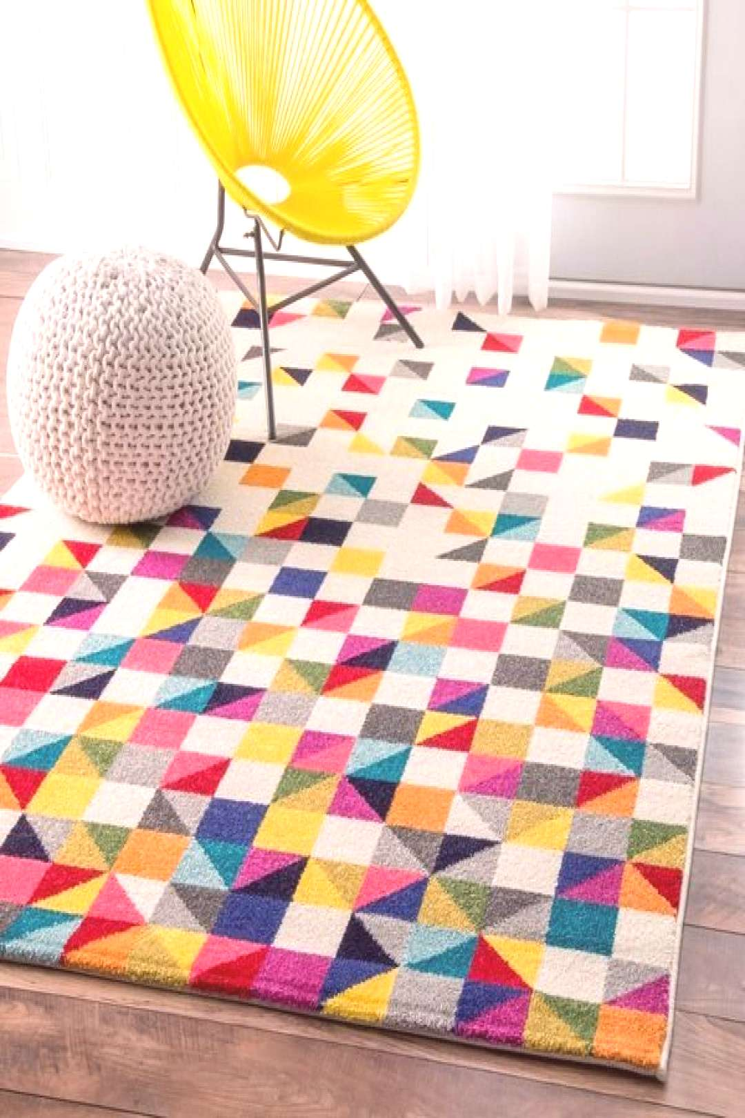 Taylor amp Olive Lurleen Contemporary Triangle Mosaic Multicolor Rug