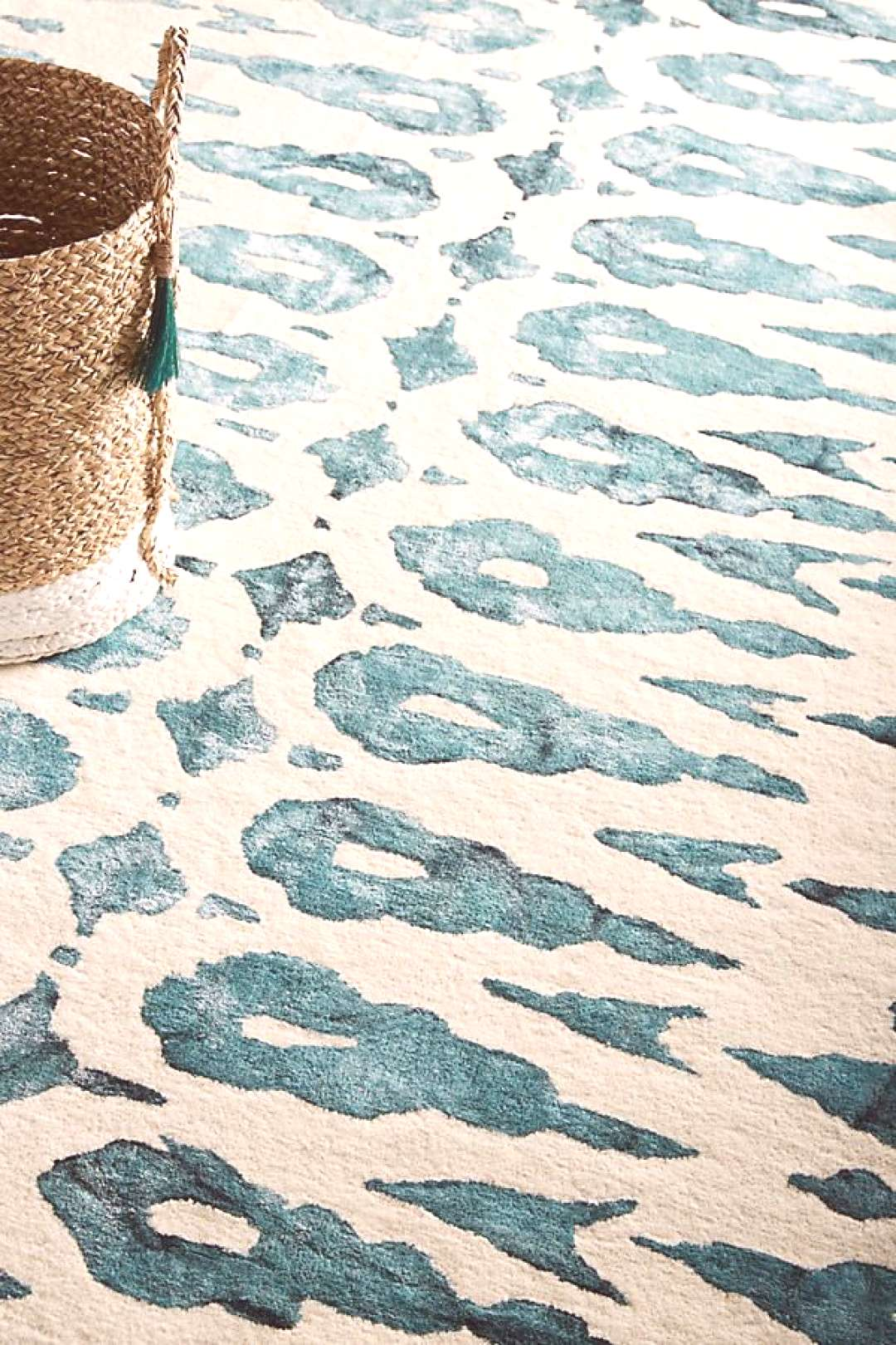 Tufted Ari Rug by Anthropologie in Blue, Rugs