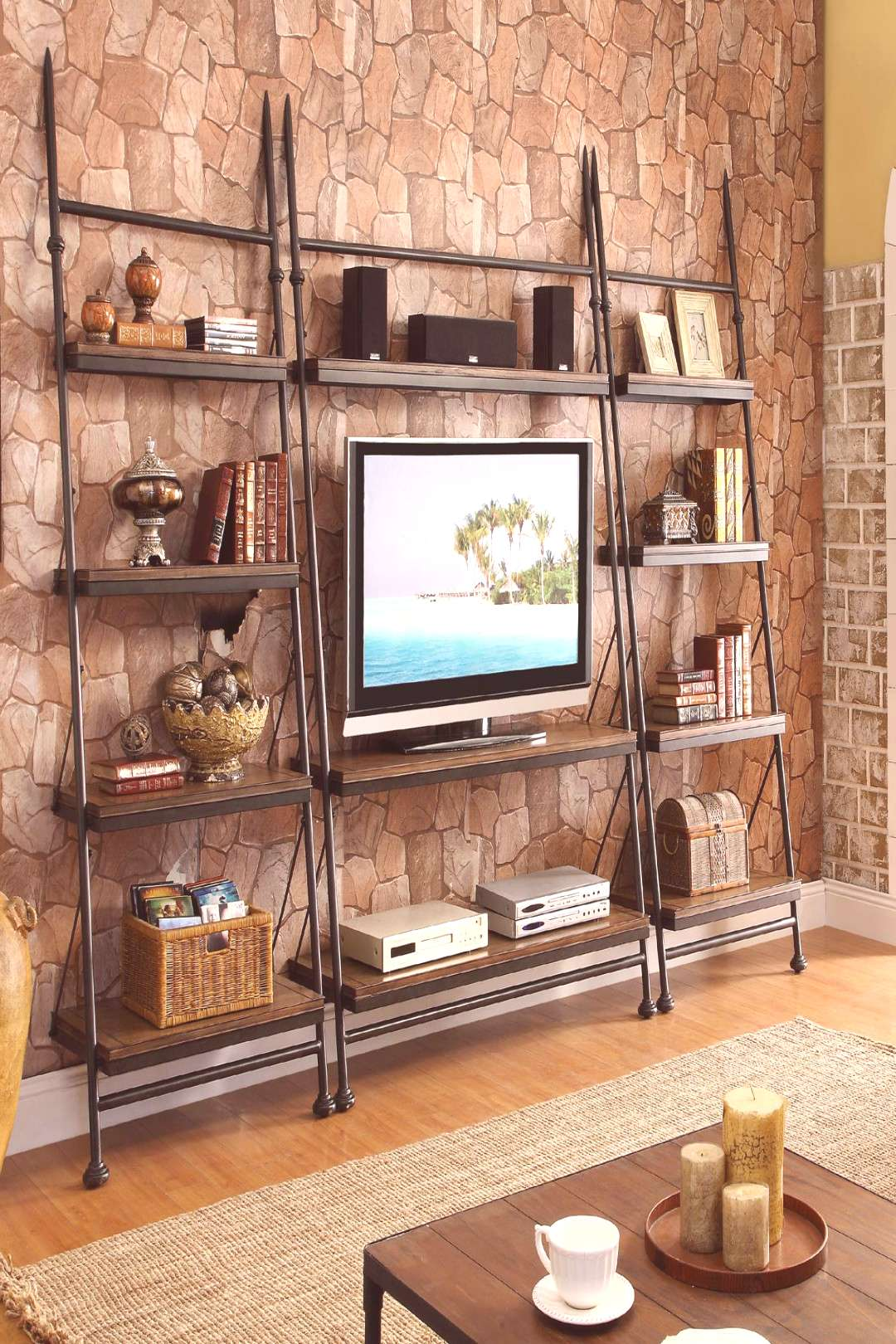 TV Stands and Consoles | Television Stands, Media Consoles and More -  Leaning TV Stand by Riversid