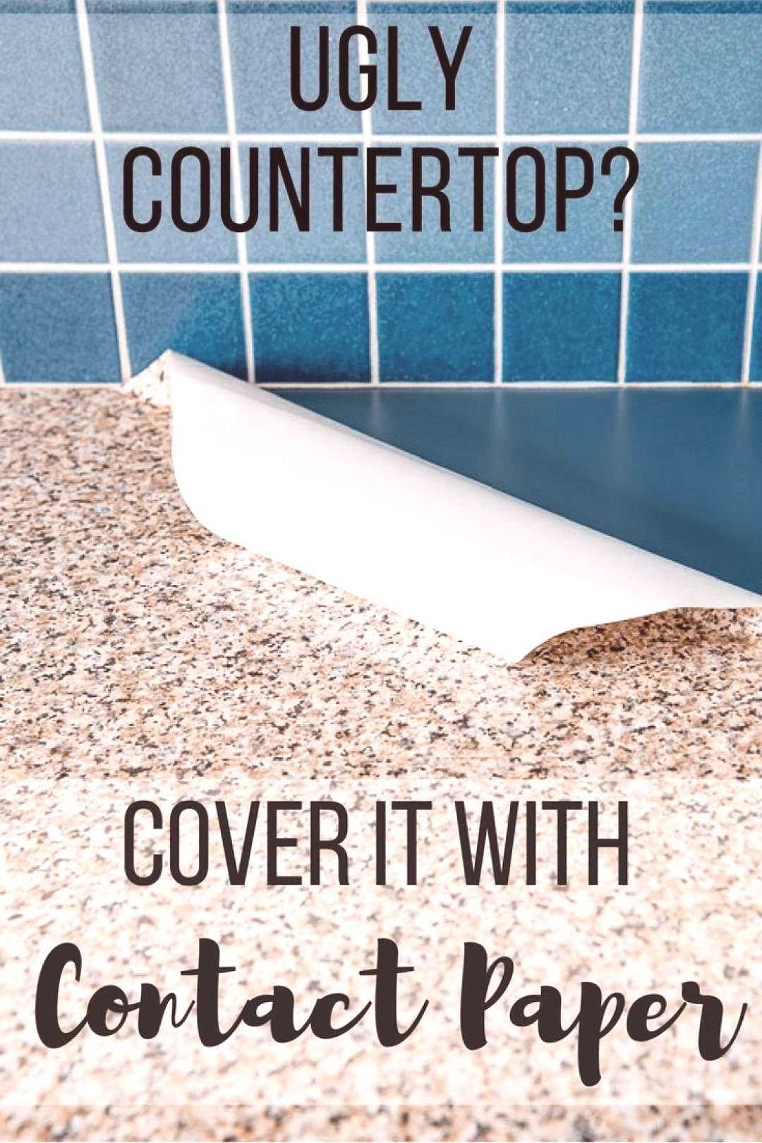 Two years ago, I applied granite contact paper to our ugly cobalt blue laminate counter tops. Peopl