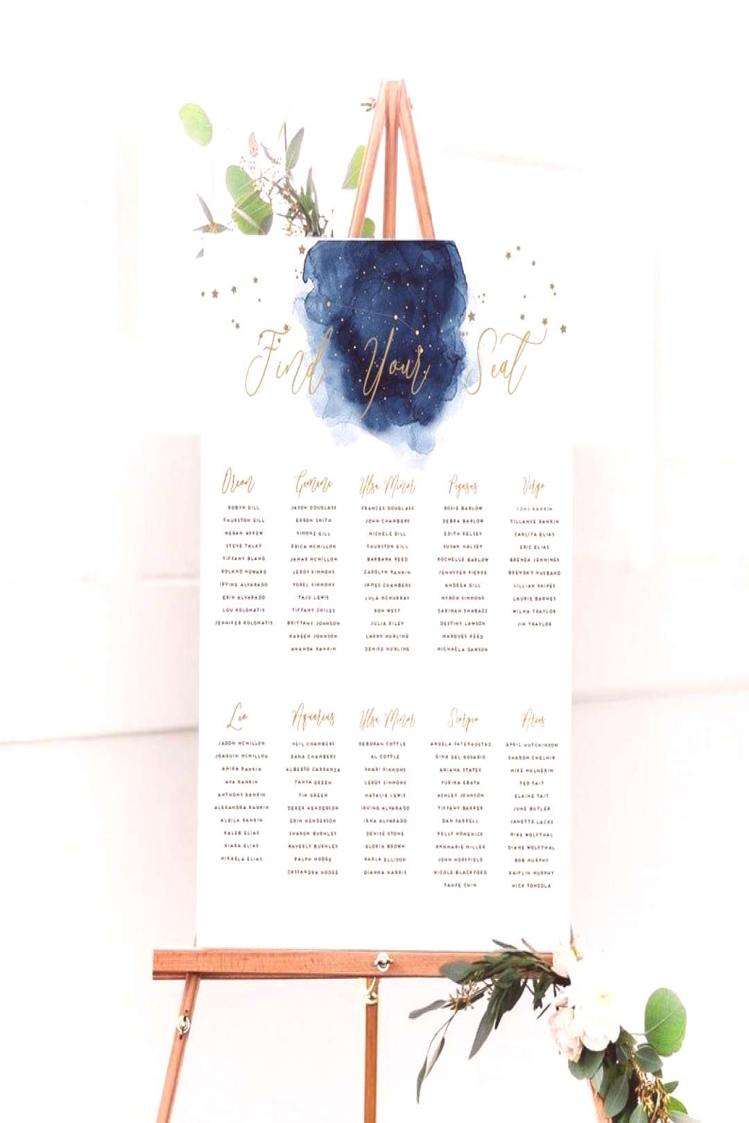 Under The Stars Wedding | Starry Night Invitation Sweet 16 | Blue Watercolor Wedding Save the date
