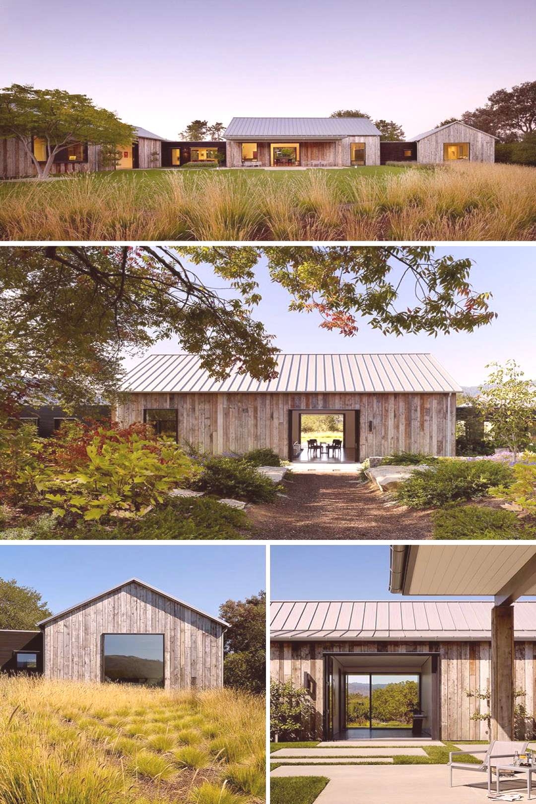 Walker Warner Architects have designed the Portola Valley Barn, a contemporary house in California