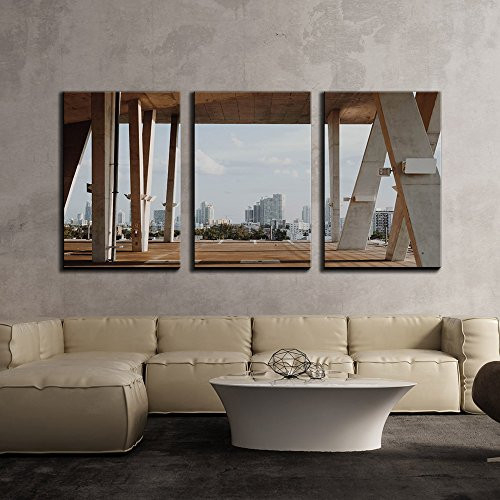 wall26 - 3 Piece Canvas Wall Art - Contemporary Architecture