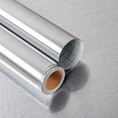 Yenhome Silver Wallpaper Mental Stainless Steel Contact